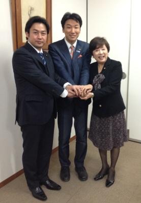 福岡たかまろ議員、橋本がく、石井みどり議員
